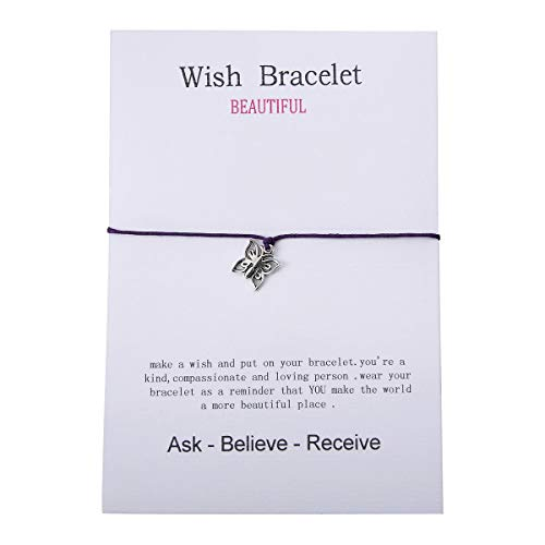 Best Wishes Gift - Valyria Good Luck Wish Bracelet Gift Card Friendship Bracelet Fit for 14cm-28mm(5 4/8