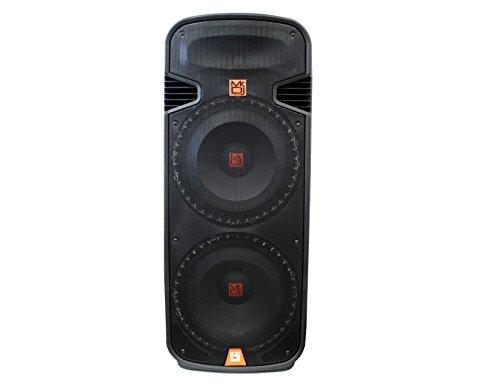 Mr. Dj PBX6100S Dual 15-Inch 2-Way 5000-Watt Passive Speaker with Built-In Accent LED - Dual 15 Speakers Dj