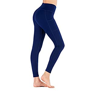 Aro Lora Womens High Waisted Leggings – Tummy Control Butt Lifting Yoga Pants with Pockets for Workout Joggings