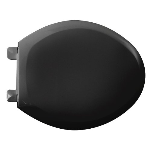 American Standard 5350.110.178 Cadet 3 Elongated Slow Close Toilet Seat with EverClean Surface, (Elongated Black Bidet)