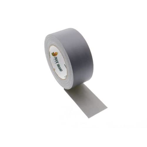 """1 Duck Brand 2"""" Floor Stage Show Audio Cloth Silver Gaffers Tape 75' 25 yd"""