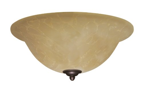 Emerson Ceiling Fans LK71ORB Amber Parchment Light Fixture for Ceiling Fans, Medium Base CFL