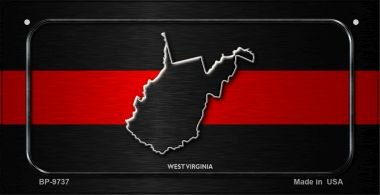 West Virginia Thin Red Line Novelty Bicycle License Plate BP-9737 by Smart Blonde