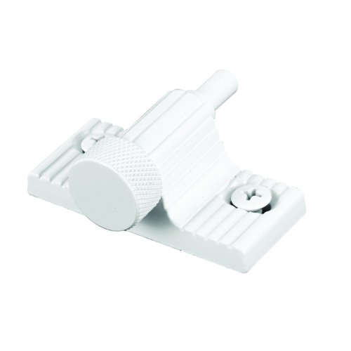 Defender Security U 9850  Lock, 1 in., Zamac Cast Housing w/Aluminum Bolt, White, Twist-In (Window Bolt)