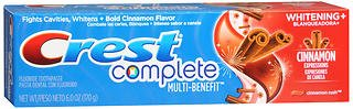 Crest Complete Toothpaste Whitening + Cinnamon Rush - 6 oz, Pack of 5 ()