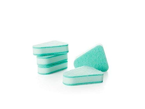 - ACHKL Home 5Pcs Replacement Brush Head Multifunctional Triangular Sponge Toilet Brush Head for Life