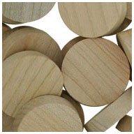 WIDGETCO 1'' Maple Wood Plugs, Face Grain