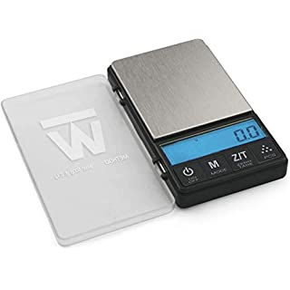 Truweigh METHOD Digital Mini Scale - 500g x 0.1g - Black - Long Lasting Portable Grams Scale for Kitchen Scale - Food Scale and Postal Scale Use