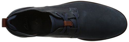 Clarks Mens Trench In Pizzo Derby Blu (navy Nubuck)