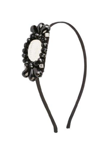 Great Gatsby Flapper Inspired Handmade Black Beaded Fashion Headband / Hairband