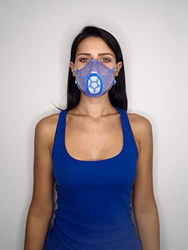 yOur Italian Mask mascherina in gomma siliconica VMQ con 50 filtri intercambiabili, made in Italy. Ecologica, 100% silicone alimentare sterilizzabile, si adatta ad ogni viso con lacci regolabili.