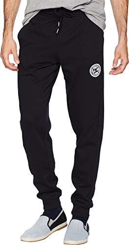 (DC Men's Rebel Pant Fleece Jogger Sweatpant Bottoms, Black L)