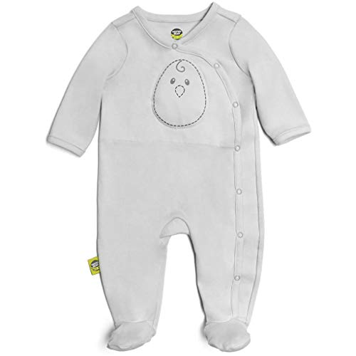 Nested Bean Zen Footie Pajama Classic - Gently Weighted, Long Sleeved, 100% Cotton (Grey Mist, Medium) (Best Cyber Monday Deals On Washers And Dryers)