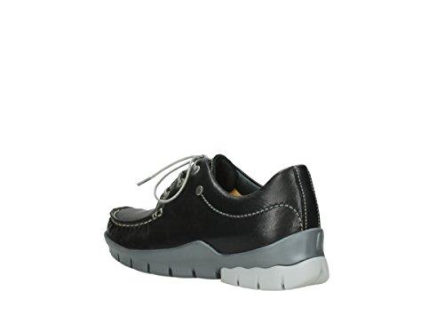 Schwarz de Wolky Zapatos 1750 Mujer 70570 70070 Cordones Para Leder qCwZBn8C