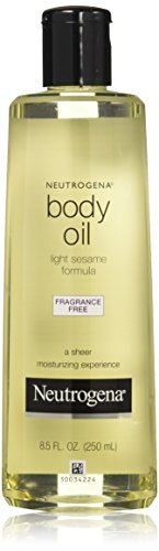 Neutrogena Fragrance-Free Lightweight Body Oil for Dry Skin, Sheer Moisturizer in Light Sesame Formula, 8.5 fl. oz