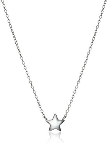 Sterling Silver Star Necklace and Earrings Jewelry Set, 18""