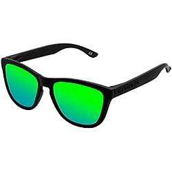 Hawkers Carbon Black Emerald One Gafas de Sol Unisex, color Negro