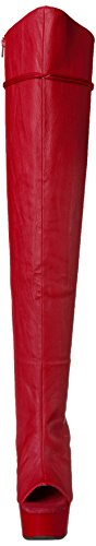 3019 Stivali Leather DELIGHT Pleaser Red Matte Faux donna Red OTwWE5q