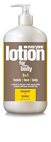 - Everyone 3-in-1 Lotion for Hands/Face/Body with Natural Herbal Extracts and Essential Oils, Coconut and Lemon, 6 Count