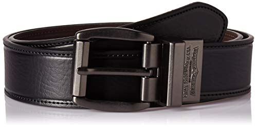 Levis Leather - Levi's Men's Black To Brown Laminate Reversible Leather Belt,black/Brown,30