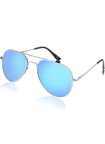 Aviator Sunglasses, Polarized UV 400 Sunglasses for Men & Women, made by - Blue Sunglasses Tint