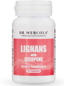 Dr. Mercola Lignans with Lycopene Supplement, 30 Servings (30 Capsules), non GMO, Soy Free, Gluten Free by Dr. Mercola