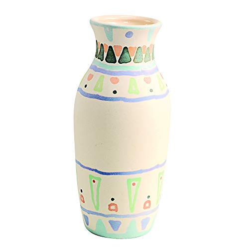 Colorations Decorative Ceramic Vases, Set of 12, Small, Unfinished, Coated Inside, Gift, DIY, Ready to Decorate, Arts & Crafts, Craft Project, Nature, Flowers, Herb Garden, Ages 5 & Up