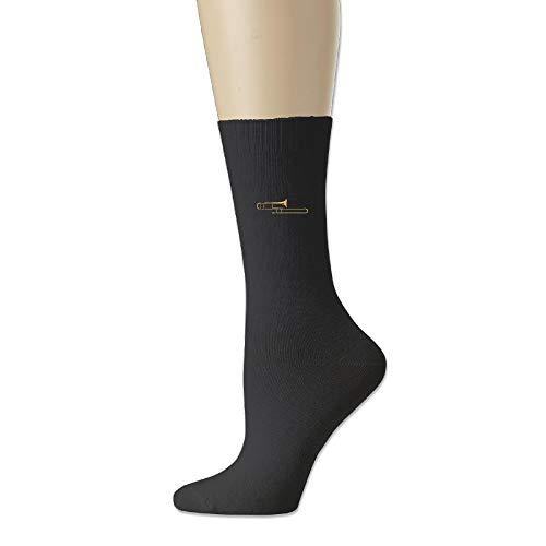 Trombone Music Instruments Unisex Cotton Crew Socks Casual Stocking For Men Women