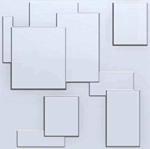 Decorative 3D Wall Panels Textured for Interior and Exterior Wall Decor. Design Boards. Pack of 12 Tiles. (Praga)