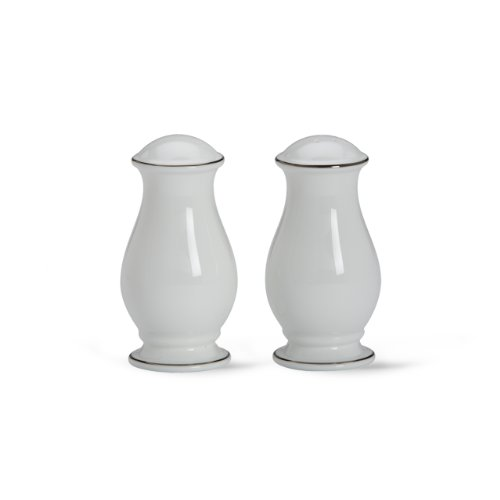 Lenox Continental Dining Platinum Salt and Pepper Set, White