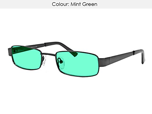 MADE TO ORDER Teens stylish MINT GREEN UV400 tinted Visual Stress/Meares-Irlen Syndrome glasses (age - Lenses Coloured Uk