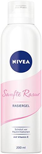 NIVEA Sanfte Rasur Rasiergel im 1er Pack (1 x 200 ml), ermöglicht eine besonders gründliche und sanfte Rasur, schützt vor Hautirritationen