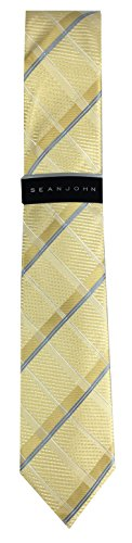 Sean John Men's Tie (Gold Plaid)