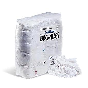 WorkWipes camiseta blanca recuperada en bolsa, trapos ...