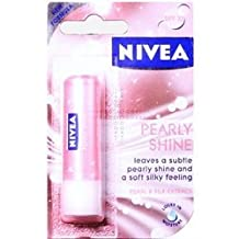 THREE PACKS of Nivea Lip Care Pearly Shine by Nivea