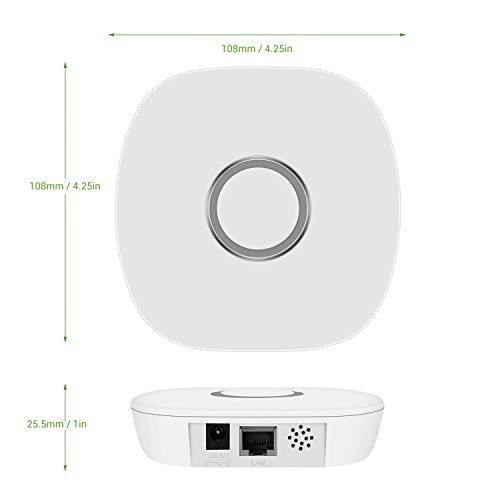 le smart hub gateway wireless zigbee home automation smartphone app remote control bulb. Black Bedroom Furniture Sets. Home Design Ideas