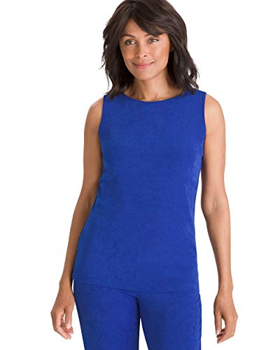 - Chico's Women's Travelers Classic Essential Reversible Tank Size 12/14 L (2) Blue