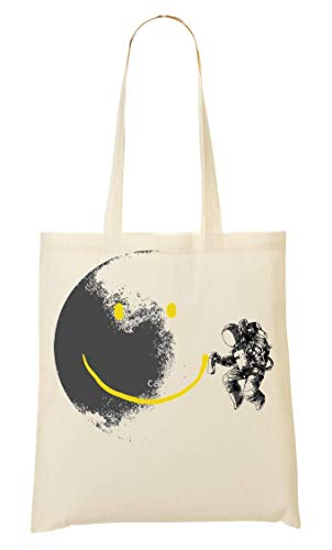 Bolso Graffiti Moon Bolsa Astronaut La Smile On Painting Compra De Mano qxFxZXR