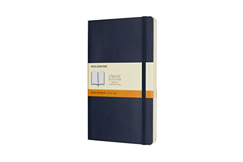 Moleskine Classic Notebook Large Ruled Sapphire Blue Softcover (8055002854740)