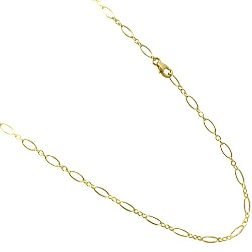 14k Gold Filled(1/20 of 14k) 3.5mm Anklet. Flat Oval Link Chain. 9,10,11,12 Inches (10 - Flat Oval