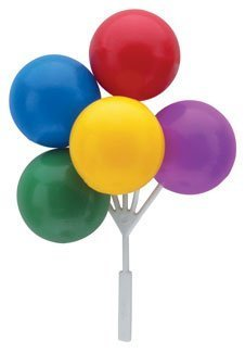 Bright Primary Colored Balloon Clusters for Cakes or Cupcakes! by DecoPac -