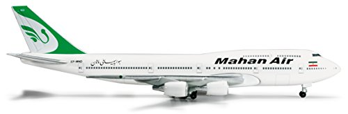 Daron Herpa Mahan Air 747-300 Combi REG#EP-MND Diecast Aircraft, 1:500 Scale