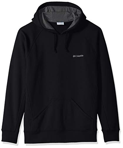 Columbia Men's Hart Mountain II Hoodie Sweatshirt, Black Solid, - Cotton Columbia Sweater