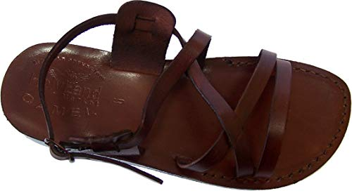 Holy Land Market Unisex Genuine Leather Biblical Sandals (Jesus) Yashua Style II - 44 M EU -