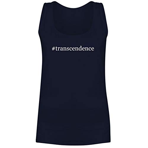 The Town Butler #Transcendence - A Soft & Comfortable Hashtag Women's Tank Top, Navy, Large