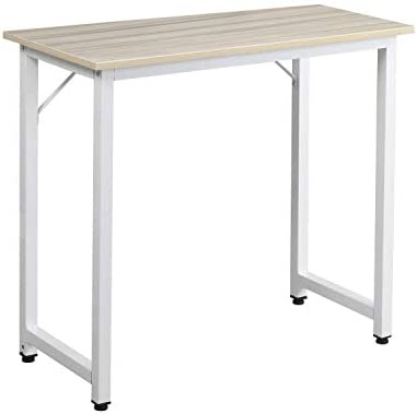 sogesfurniture Computer Desk 31.5 inches Sturdy Office Desk Meeting Desk Training Desk Writing Desk Workstation Desk Gaming Desk,Maple BHUS-WK-JJ80-MO
