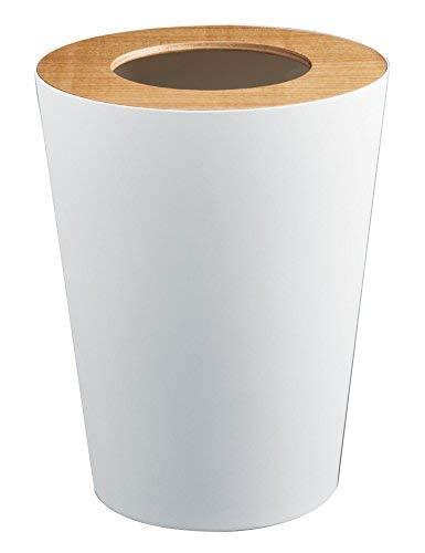 Red Co. Round Metal Modern Waste Basket, Trash Can Bin for O