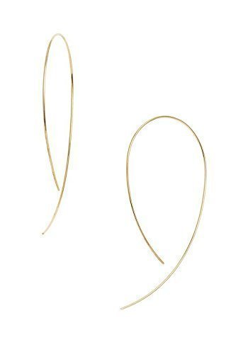 14K Yellow Gold Hooked on Hoop Earrings Long 2'' Inch Hoops by New England Jewelry Designs