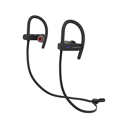 Legato Sport Bluetooth Headphones IPX7 Waterproof Wireless Earbuds for Workout, Running, Gym V4.1 Extreme Bass HD Sound, 7 hrs Playback Noise Cancelling Microphone