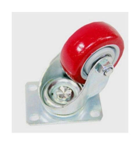 yan 4 Inch Caster Wheels Swivel Plate On Red Polyurethane Wheels PU Casters